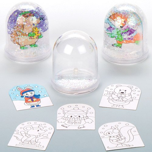 (Winter Woodland Color-in Snow Globes for Children to Make Decorate and Personalise - Creative Xmas Craft Acitivity for Kids (Box of)