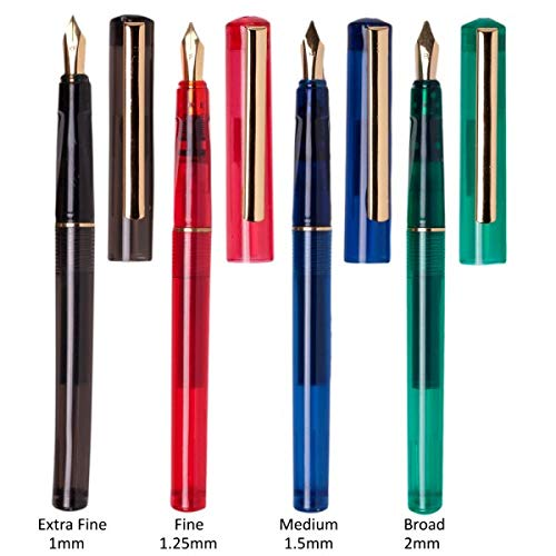 Creative Mark Quill Lines Master Calligraphy Pens Set - Lettering Pens w/Nibs, Fountain Ink Cartridges, Practice Pad, Instructional Booklet for Beginners - [Master Set]