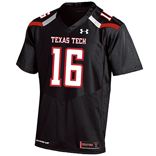 Under Armour NCAA Texas Tech Red Raiders FG205084A64 Childrens Official Sideline Jersey, Large, Black by Under Armour