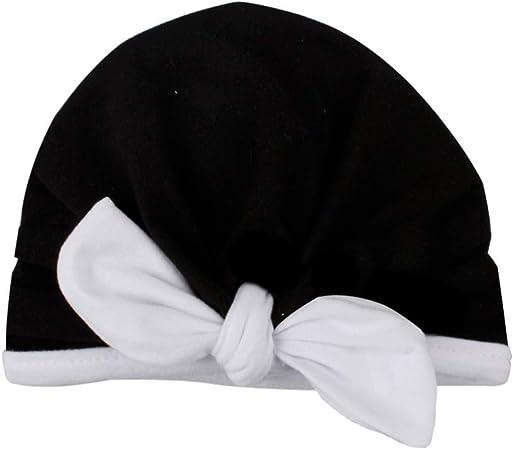 elegantstunning - Gorro para recién nacido, diseño de orejas de conejo, algodón Negro: Amazon.es: Hogar