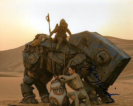 DAISY RIDLEY (Star Wars - The Force Awakens) 8x10 Female Celebrity Photo Signed In-Person