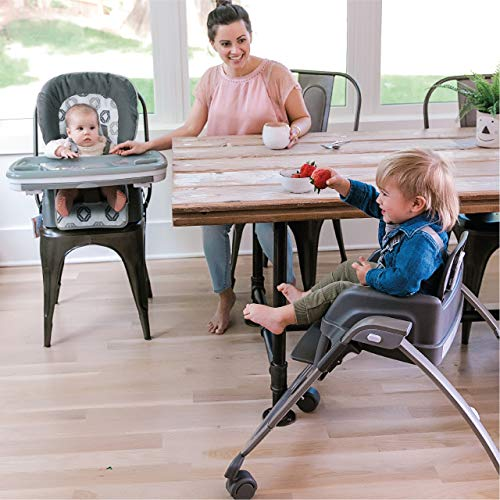 Ingenuity SmartServe 4-in-1 High Chair with Swing Out Tray – Clayton – High Chair, Toddler Chair, and Booster by Ingenuity (Image #10)
