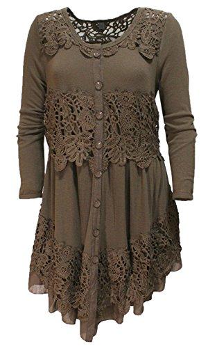 48 victorian crochet lace dress - 1