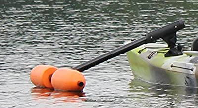 Kayak or Canoe Outriggers / Stabilizers w/ OVERSIZED YELLOW FLOATS