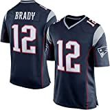Mens New England Patriots Tom Brady #12 Game Jersey Navy