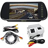 KIPTOP Motorhome Twin Camera Rear View Reversing Kit with Mirror Monitor