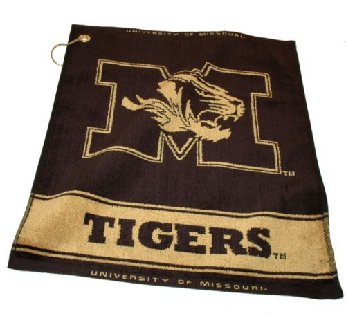 Team Golf NCAA Missouri Tigers Jacquard Woven Golf Towel, 16