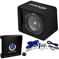 Kicker 43VCWR122 1000W Subwoofer Box + Planet 1500W Mono Amp, Remote + Wire Kit (Certified Refurbished)