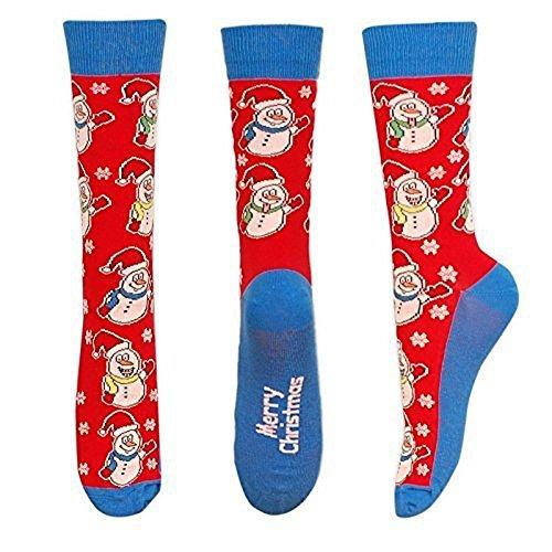 De Paire Festive Uk 6 Bonhomme Hommes Noël Ue 1 Taille Chaussettes Feet Neige 11 Nouveauté 0UwznqCI
