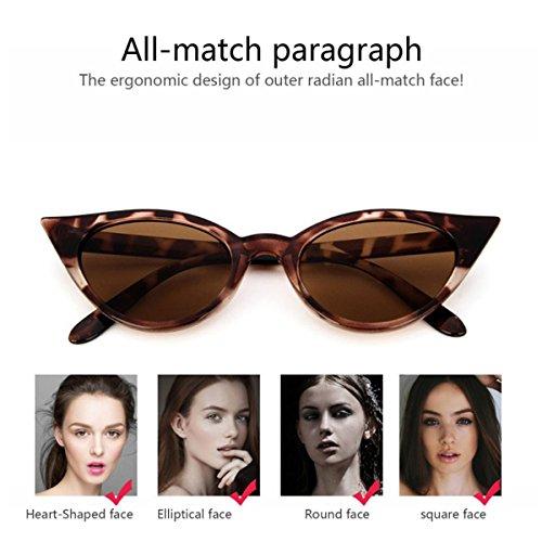 Polarizadas Gafas Gafas Sol Mujer Marco Grueso Estilo Retro Catado A05 Leopardo De Sol De ECYC® Para EzwPqzAr