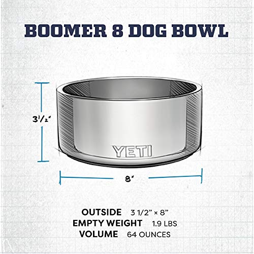 YETI Boomer 8 Stainless Steel, Non-Slip Dog Bowl, Black Duracoat by YETI (Image #5)