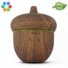 Apexan Aromatherapy Essential Oil Diffuser, 300 mL Aroma Diffuser with Cool Mist, Super-Quiet Humidifier, Air Purifier, with Timer & Soothing Light for Home, Bedroom, Office, Spa, Hotel (Light Wooden Grain)