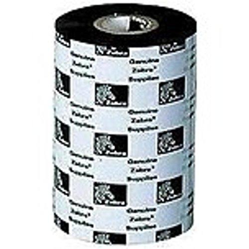 Zebra Wax Resin Ribbon 2.52 in x 242 ft 5555 Standard 0.5in core - Thermal Transfer - 2.52 x 242.78 ft Ribbon Size - 12 / Carton (5555 Wax)