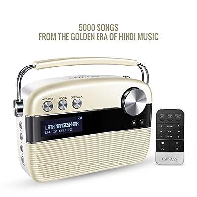 SAREGAMA Carvaan SC01 Portable Digital Music Player (Porcelain White)