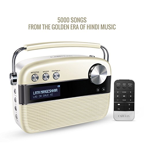 SAREGAMA Carvaan SC01 Portable Digital Music Player (Porcelain - Remote Track Switch Rh
