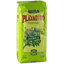 PLAYADITO Yerba Mate Compuesta con Hierbas 500 gr.| Yerba Mate Tea Herbal Blend 1.1 lb.