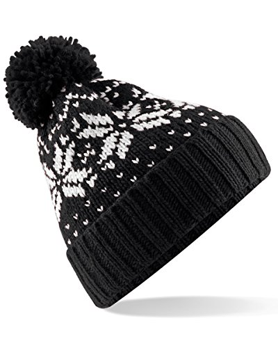 Beechfield Trendy Winter Warm Soft Beanie Cable Knitted Hat Cap For Women