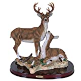 K90678 Two Deer Standing and Sitting Large 12 Inch High