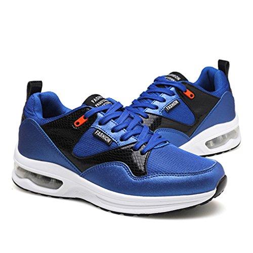 de Adulte Sport Chaussure Amoureux entraînement Mixte air Max Bleu Course PU LFEU Chaussure Jogging pour Sneakers de antidérapant Running RtxwBBnO