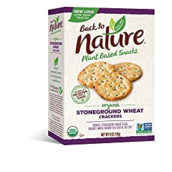 Back to Nature Crackers, Organic Stoneground Wheat, 6 Ounce (Packaging May Vary)