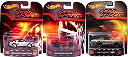 Amazon Com Dubblebla Need For Speed Hot Wheels 3 Car Set Pontiac