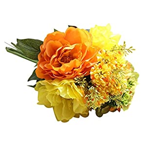 YJYdada Artificial Silk Fake Flowers Peony Floral Wedding Bouquet Bridal Hydrangea Decor (D) 19