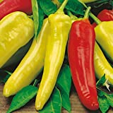 Hungarian Sweet Pepper Seeds, 100+ Premium Heirloom Seeds, Excellent for Fresh Eating!, (Isla's Garden Seeds), Non GMO, 85% Germination Rates, Highest Quality Seed