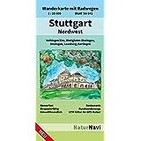 Stuttgart Nordwest: Wanderkarte mit Radwegen, Blatt 50-541, 1 : 25 000, Vaihingen/Enz, Bietigheim-Bissingen, Ditzingen, Leonberg, Gerlingen (NaturNavi Wanderkarte mit Radwegen 1:25 000)