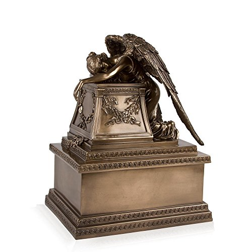Perfect Memorials Bronze Finish Weeping Angel Cremation Urn Medium