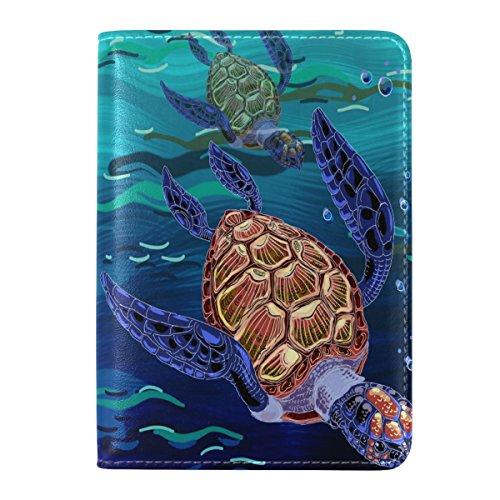 Amazon.com: ALAZA acuarela pasaporte de viaje de tortuga de ...