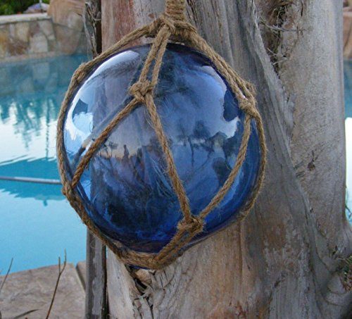Japanese Glass Fishing Float Fish Net Buoy Tiki Decor -