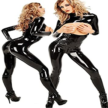 Outdoors ukSportsamp; Mirlun co Latex Mono CatsuitAmazon Black qzUVGSMp