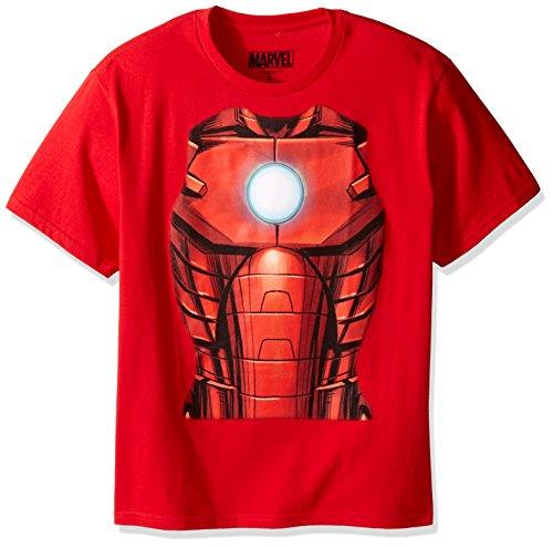 Marvel Boys' Big Boys' T-Shirt, Iron Man Red, MEDIUM