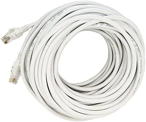 Case Safety 1x 100ft Cat5 Patch Cord Ethernet Internet Network LAN RJ45 Cable Modem Router White
