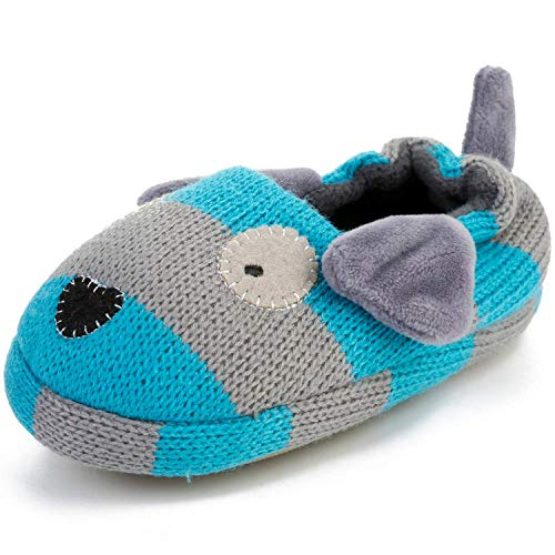 FEETCITY Toddler Boys' Doggy Slipper Cartoon Puppy Crochet Shoes Size 7.5-8 by FEETCITY (Image #6)