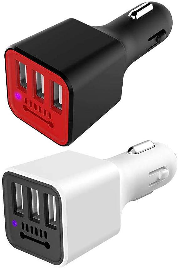 Dandeliondeme - Cargador de Coche portátil con 3 Puertos USB ...
