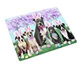 Doggie of the Day Easter Holiday American Staffordshire Terriers Dog Blanket BLNKT131457 (60x80 Woven)
