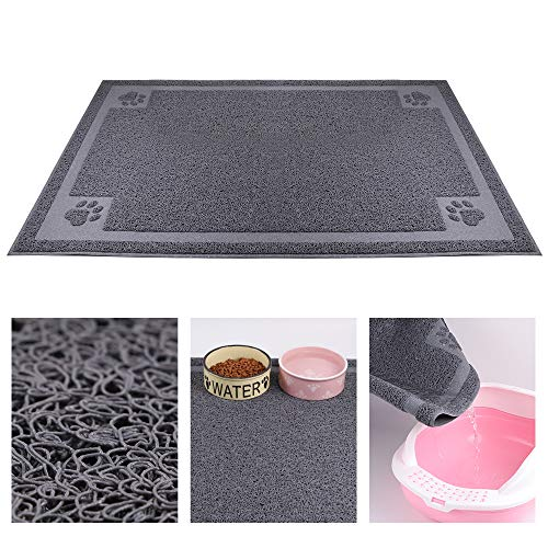 KITAINE Pet Feeding Mat for Dog Cats Waterproof Large XL Dog Mat for Food & Water Bowls Feeders Dishes Easy to Clean Cat…