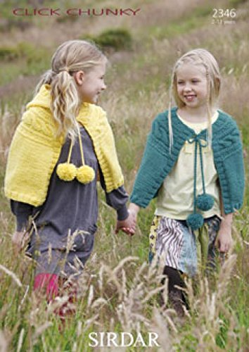 Sirdar Girls Capes Click Knitting Pattern 2346 Chunky ()