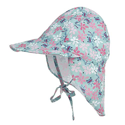 (Toddler Kids Sun Protection Hat Newborn Baby Adjustable Flap Hat Swimming Sun Hat (2-5 Years, Frog))
