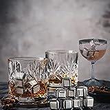 8 PCS Whiskey Stones, Stainless Steel Metal Ice