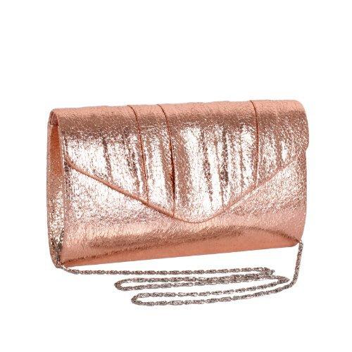 Domo - Cartera de mano para mujer Rose Gold S234: Amazon.es: Zapatos y complementos