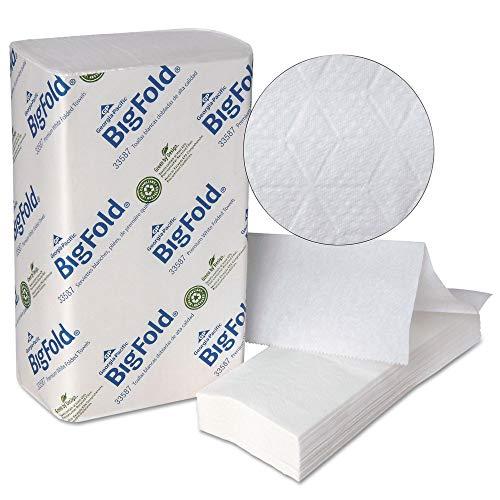 Towel Bigfold Z-fold (Georgia Pacific Professional 33587 Bigfold Paper Towels, 10 1/5 X 10 4/5, White, 220/pack, 10 Packs/carton)