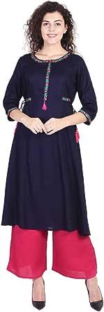 Vihaan IMPEX Indian Kurti for Women Kurta Tops Tunic Long Kurtis for Girls Dress