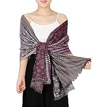 KAISIN Women's Elegant Scarf Paisley Shawl Wrap Scarf Excellent Gift for Women