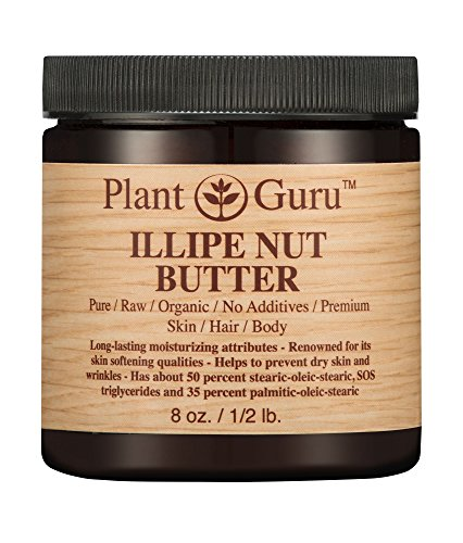Illipe Nut Body Butter 8 oz. 100% Pure Raw Fresh Natural Cold Pressed. Skin Body and Hair Moisturizer, DIY Creams, Balms, Lotions, Soaps.
