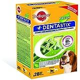 Pedigree Fresh Dentastix Snack per l'igiene orale, per cani medi, 4 confezioni con 28 pezzi ciascuno