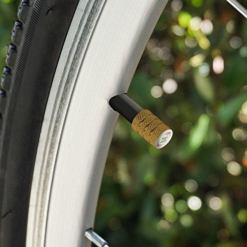 結婚式の花花嫁の父オートバイ自転車バイクタイヤリムホイールアルミバルブステムキャップ - ゴールド
