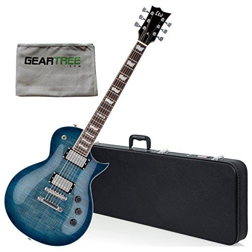 ESP LTD EC256FM CB Eclipse Cobalt Blue Electric Guitar w/Geartree Cloth and Har