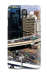 Ideal Melissa Jean Carpenter Case Cover For Galaxy Note 3(higspeed Train In A City), Protective Stylish Case